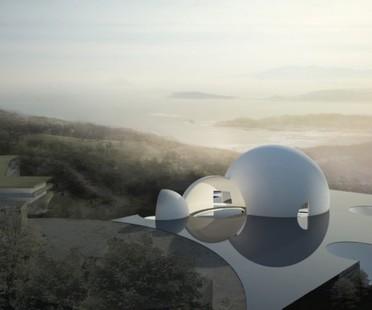 Steven Holl: Arrival Hall y Oceanic Pavilion, Necrópolis de ChinPaoSan, Taiwán
