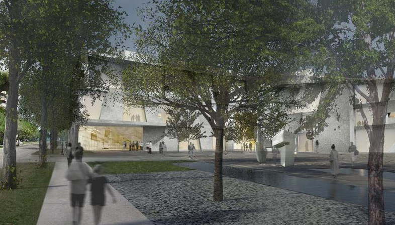 Steven Holl y Lake|Flato Architects  para el Museum of Fine Arts Houston