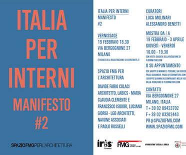 Exposición SpazioFMG Italia per Interni. Manifesto #2