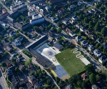 BIG: ampliación deporte y artes, Gammel Hellerup Gymnasium