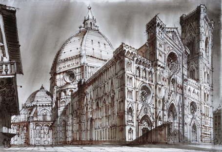 SpazioFMG Exposición Sergei Tchoban Realtà e Fantasia - Cartoline dall'Italia