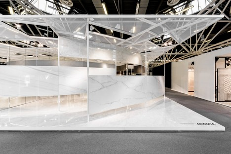 Ariostea Twister Pavilion superficies Ultra para Cersaie 2016