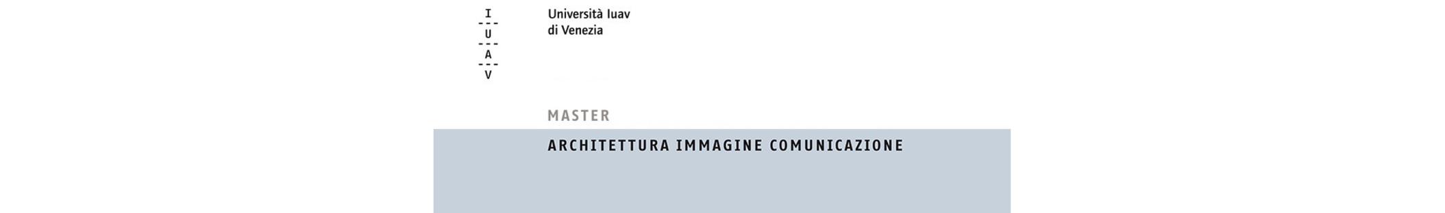 Máster IUAV Arquitectura Imagen Comunicación
