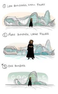 Un doodle dedicado a Zaha Hadid