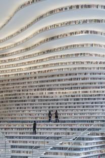 MVRDV Tianjin Binhai Library un océano de libros