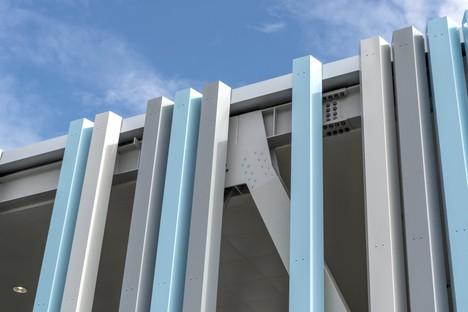 FUD Lombardini22 Physical Branding pasarela peatonal y entrada para Trieste Airport
