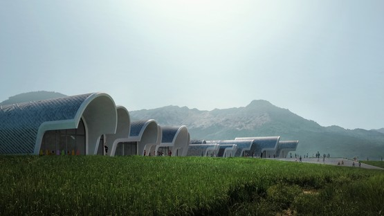 Zaha Hadid Architects Lushan Primary School entre China y Milán