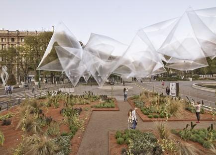 Oasis verdes y agricultura en la ciudad AgrAir, Radicity y Green Gallery