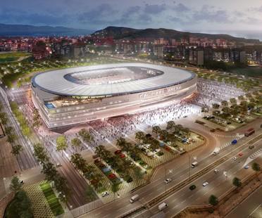 Nuevo estadio de Cagliari Calcio por Massimo Roj, de Progetto CMR y Sportium