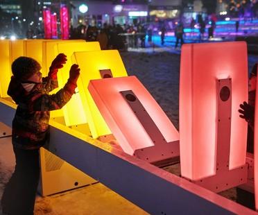 Obras artísticas y arquitectónicas de luz en Ámsterdam, Montreal y Salerno