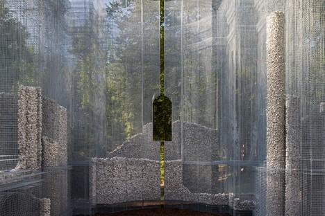 Edoardo Tresoldi Simbiosi obra site-specific para Arte Sella - Dolomitas Trentino