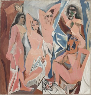 Pablo Picasso. Les Demoiselles d'Avignon. 1907. The Museum of Modern Art, New York.