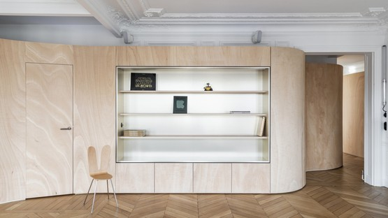 Toledano + architects Wood Ribbon interiorismo en París