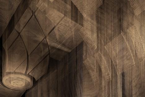 Escultura de Tresoldi para Cathédrale - Moxy East Village Hotel proyecto de Rockwell Group