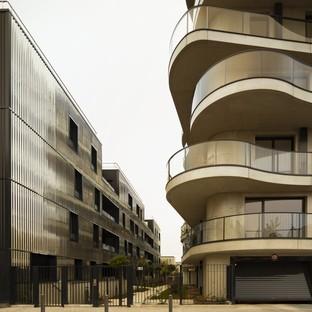 Christophe Rousselle Architecte Courbes edificios residenciales en Colombes Francia