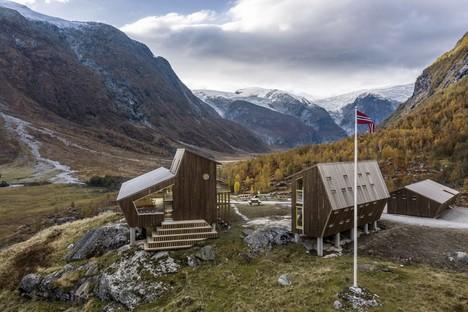 Snøhetta Tungestølen refugio para excursionistas en el glaciar Jostedalsbreen Noruega