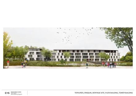 C+S Architects regeneración urbana del complejo de los antiguos Establos Reales de Tervuren
