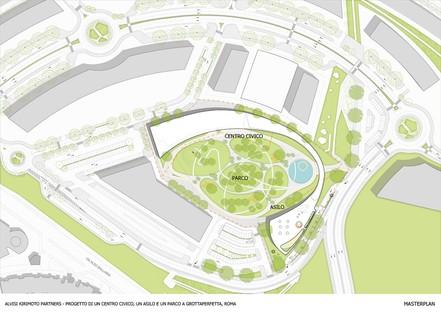 Alvisi Kirimoto Centro Cívico polivalente, Guardería y Parque Roma