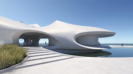 MAD Architects - Wormhole Library, un paisaje de ensueño en Haikou