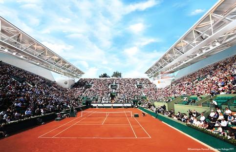 Dominique Perrault Cubierta Pista de Tenis Suzanne Lenglen en el Roland Garros París