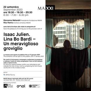 Isaac Julien homenaje a Lina Bo Bardi – Un meraviglioso groviglio en el Maxxi Roma