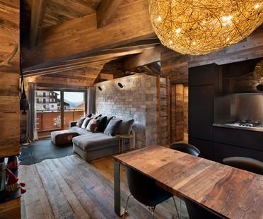 Giuseppe Tortato Architetti interior de montaña, un chalet en los Alpes