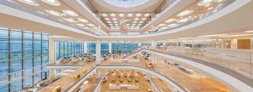 Foster + Partners sede central Hankook Technoplex en Pangyo, Seúl