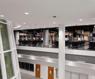 nEmoGruppo interior para oficinas del Departamento de Ciberseguridad de la NYU Abu Dabi