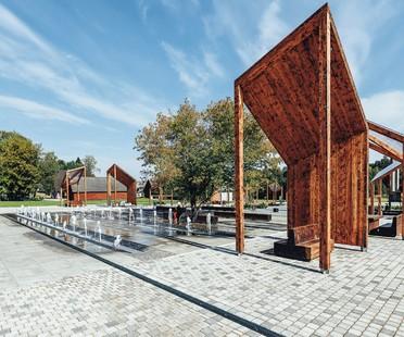 Pabellón Estonia exposición Square! Positively shrinking en la Bienal de Arquitectura de Venecia 2021