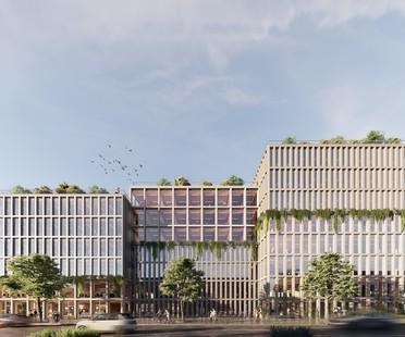 ADEPT para el Wandsbek de Hamburgo un edificio de madera CLT