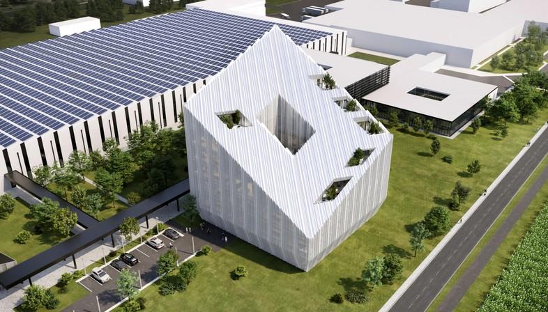 Peter Pichler Architecture + ARUP proyecto ganador para la sede social de Bonfiglioli