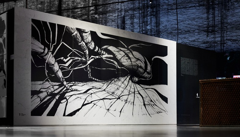 Comunità Resilienti, Architettura come caregiver, en la instalación Cyberwall, en la Bienal de Venecia