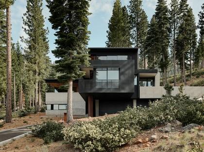 Faulkner Architects, Lookout House, una casa minimalista en la Sierra Nevada