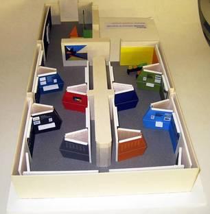 Maqueta instalación: maqueta de la instalación de la exposición