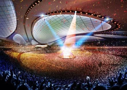 Zaha Hadid Architects, New National Stadium, Tokio