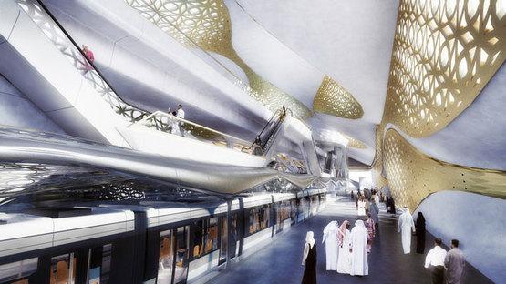 Zaha Hadid, KFDA Metro Station, Riad