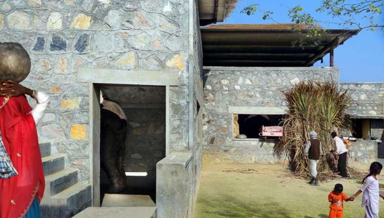 RMA Architects, Hathigaon viviendas para los elefantes y sus cuidadores