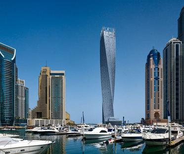SOM: rascacielos Cayan Tower - Infinity Tower, Dubai