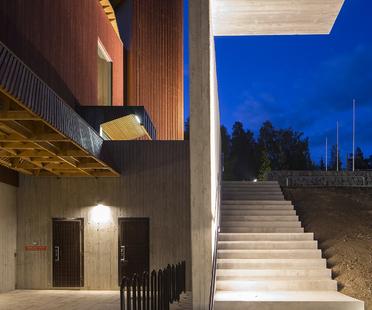 Lahdelma & Mahlamäki firman el Centro de la Naturaleza Finlandesa Haltia en Espoo