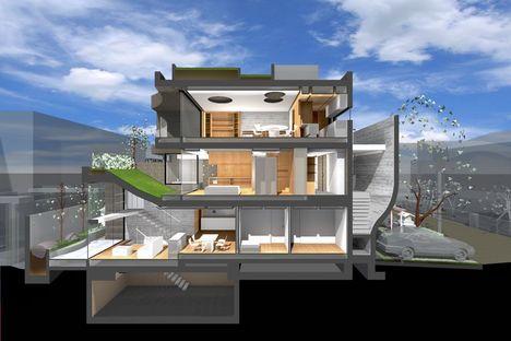 ARTechnic architects proyecta Breeze, viviendas y oficina en Tokio
