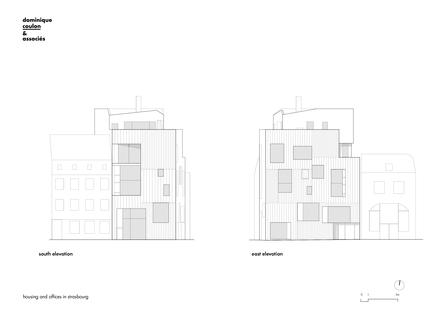 Dominique Coulon: edificio para oficinas y vivienda en Estrasburgo