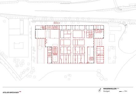 Atelier Brückner: Restauración de los Wagenhallen en Stuttgart