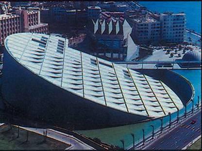 La biblioteca de Alejandría de Egipto