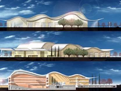 Ricardo Bofill: Villa Cultural de Prado Valladolid, en construcción