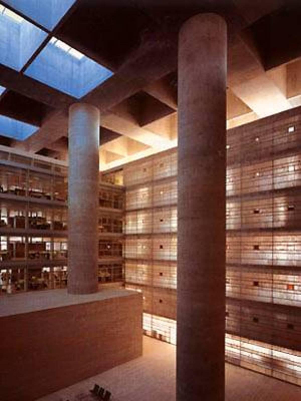 Alberto campo baeza sede central de la caja general de ahorros granada espana 2001 floornature - Caja granada en madrid ...