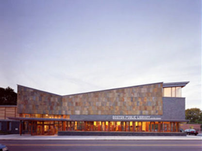 Biblioteca Honan-Allston Branch<br> Machado and Silvetti Associates<br> Boston, 2001