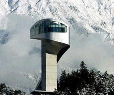 Trampolín de saltos de esquí, Zaha Hadid. Monte Bergisel (Austria). 2002