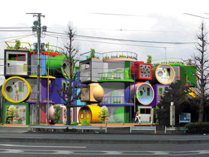 Reversible destiny lofts. Tokio. Shusaku Arakawa y Madeline Gins. 2005