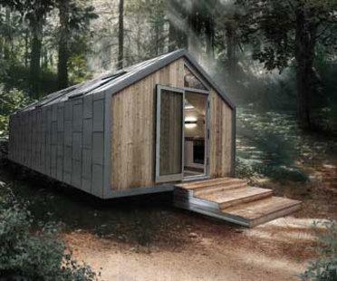 Tres modelos de casas móviles proyectados por Hangar Design Group