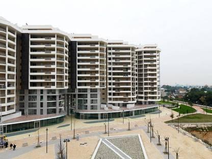 Vista sugli appartamenti